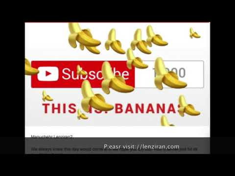 Lenziran have 1000 subscribers receive banana from You Tube