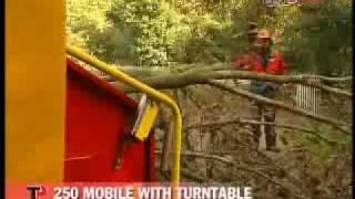 ΘΡΥΜΜΑΤΙΣΤΗΣ ΚΛΑΔΙΩΝ ΚΑΤΑΣΤΡΟΦΕΑΣ TP 250 MOBILE TURNTABLE
