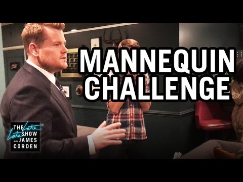 Image result for mannequin challenge james corden