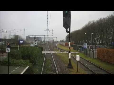 A train driver's view: Rotterdam CS - Hoek van Holland Haven, SGMM, 26-Jan-2015.