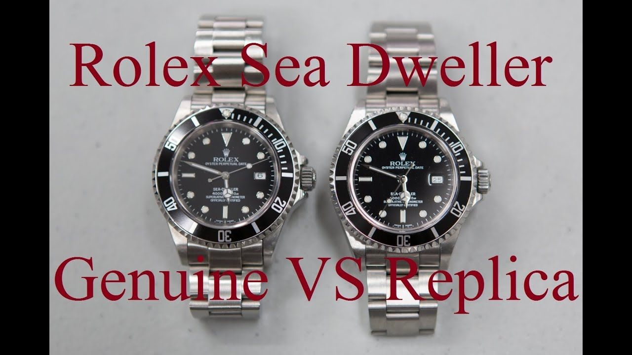 Rolex Nachbau Fake Vs Real Rolex Sea Dweller Youtube