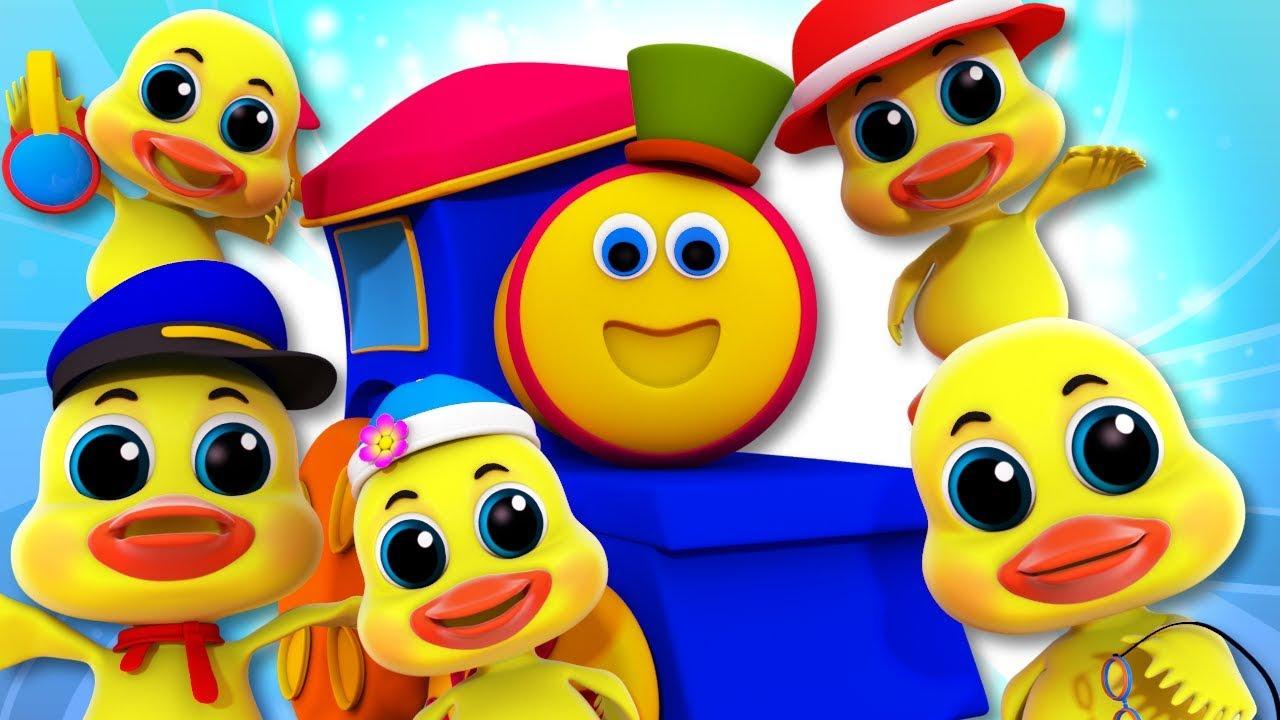 Five Little Ducks | Bob The Train Nursery Rhymes For Babies