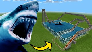 How To Make a MEGALODON Roller Coaster in Minecraft PE