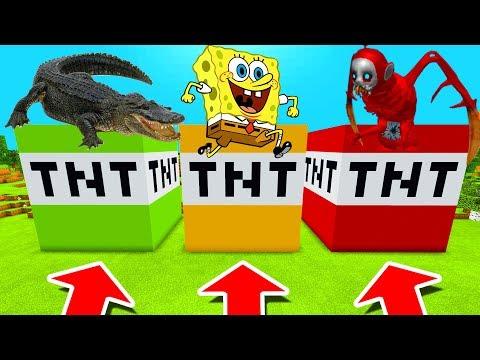 Minecraft PE : DO NOT CHOOSE THE WRONG TNT! (Alligator, Spongebob  & Po Slendytubbies)