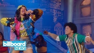 Bruno Mars & Cardi B's 'Finesse' Remix Enters Hot 100 Top 40 | Billboard News