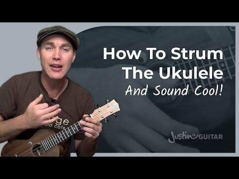 Ukulele Lesson 4 - Uke Shuffle Strumming - JustinGuitar - Ukulele Tutorial [UK-004]