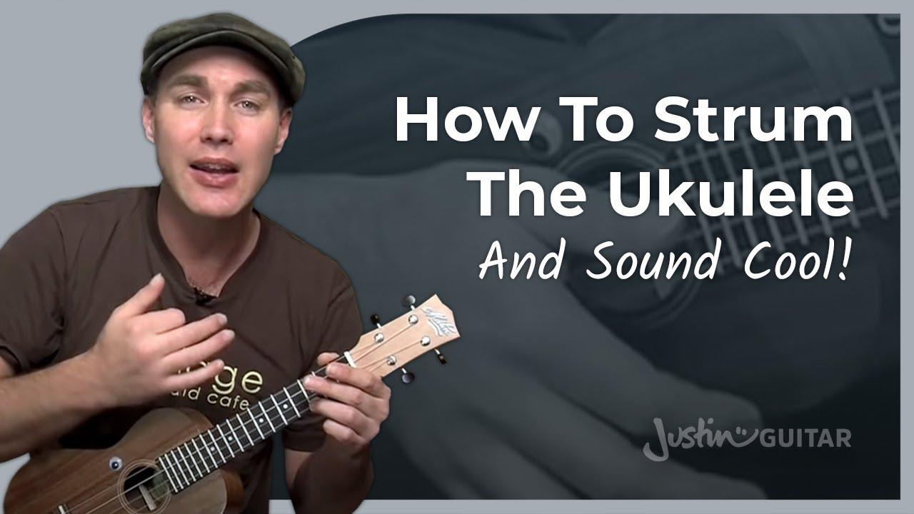 Ukulele Lesson 4 - Uke Shuffle Strumming - JustinGuitar ...