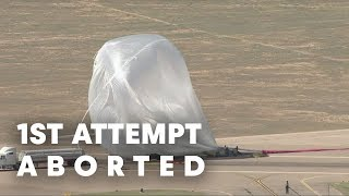 1st Attempt Aborted due to Gusty Winds - Red Bull Stratos