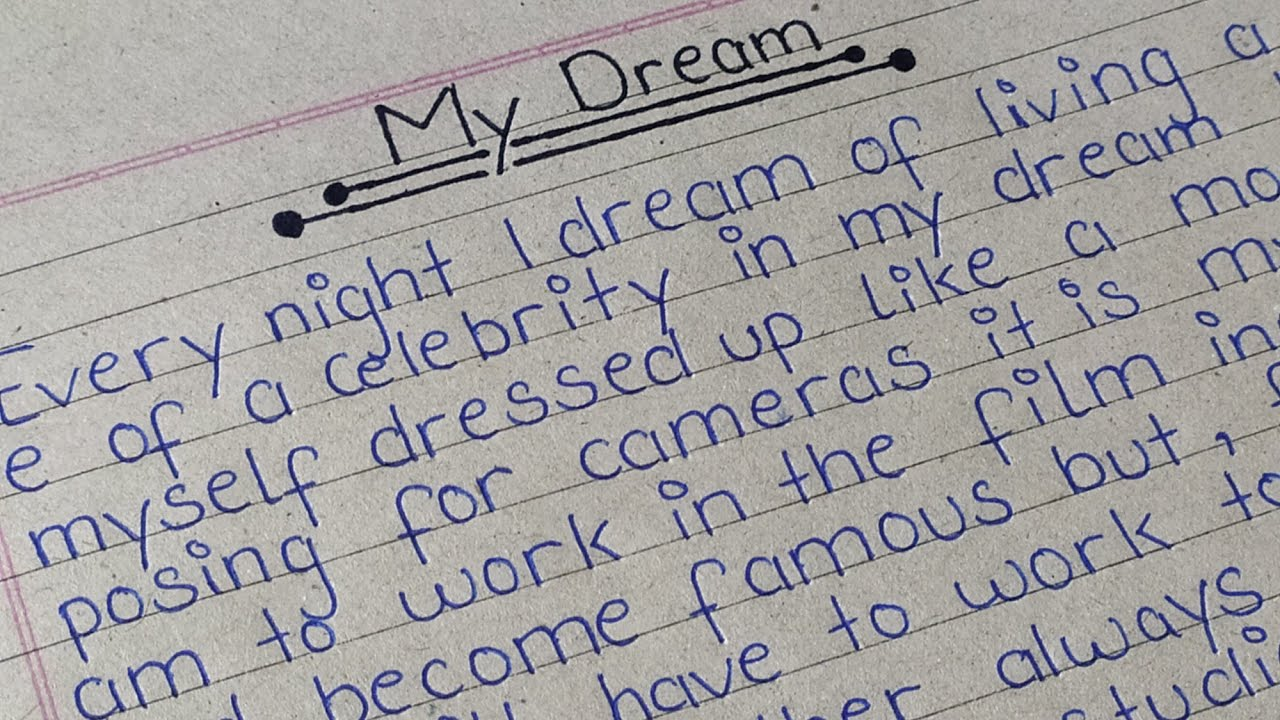 Dreams essay writing objective phrases for resume