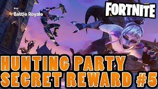 Hunting Party #5 Secret Battlestar (FORTNITE SEASON 6 WEEK 5 BATTLE PASS CHALLENGE)