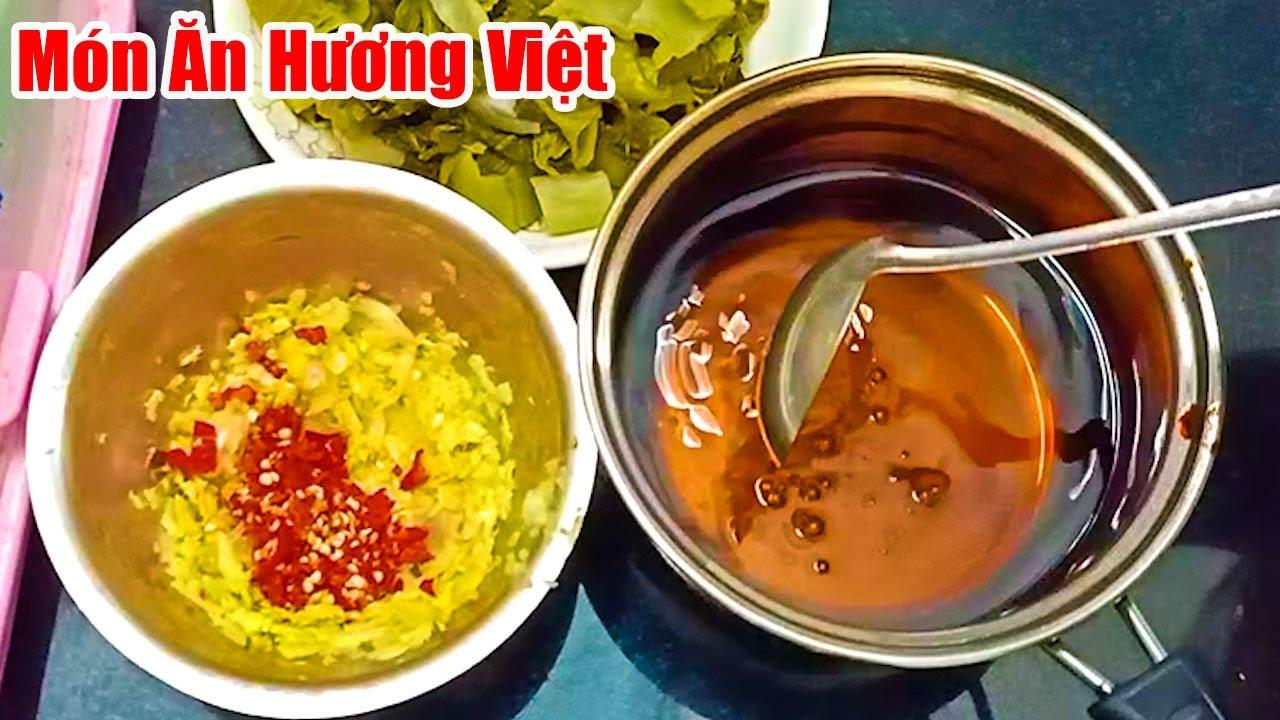 """Cách Làm Dưa Cải chua Ngọt Cay Thơm Phức""""Vàng Giòn tự nhiên để được lâu""""#Món Ăn Hương Việt"""