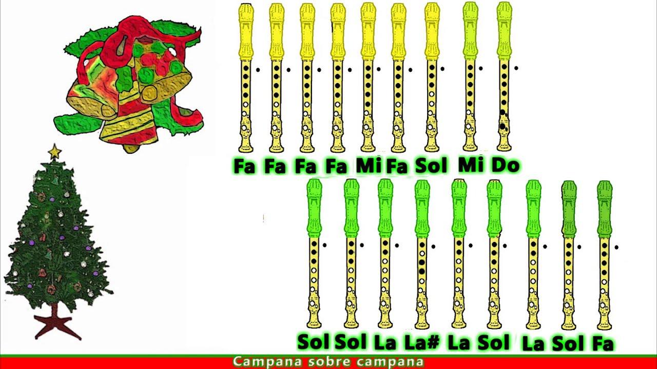 Imagenes De Villancicos Campana Sobre Campana.Campana Sobre Campana En Flauta Dulce Con Notas