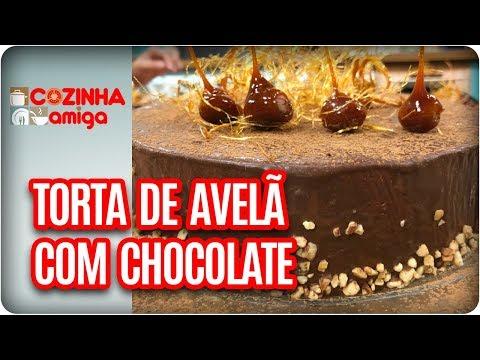 Torta De Creme De Avelã Com Chocolate - Raquel Novais | Cozinha Amiga (19/03/18)