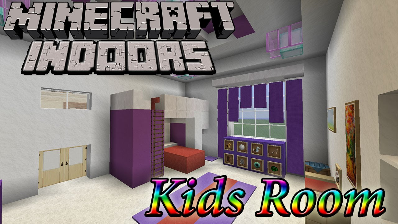 Minecraft indoors kids room youtube for Bedroom ideas on minecraft