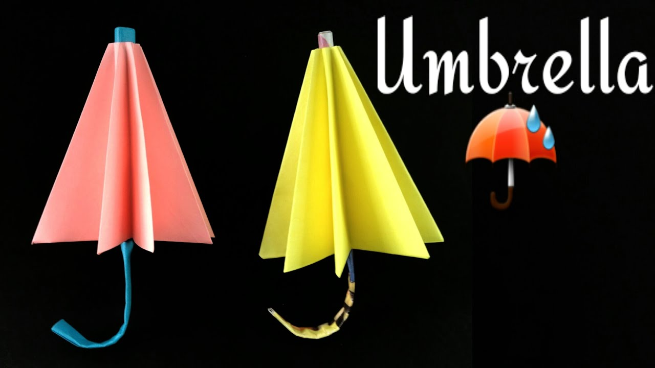 how to make a paper umbrella �� origami tutorial