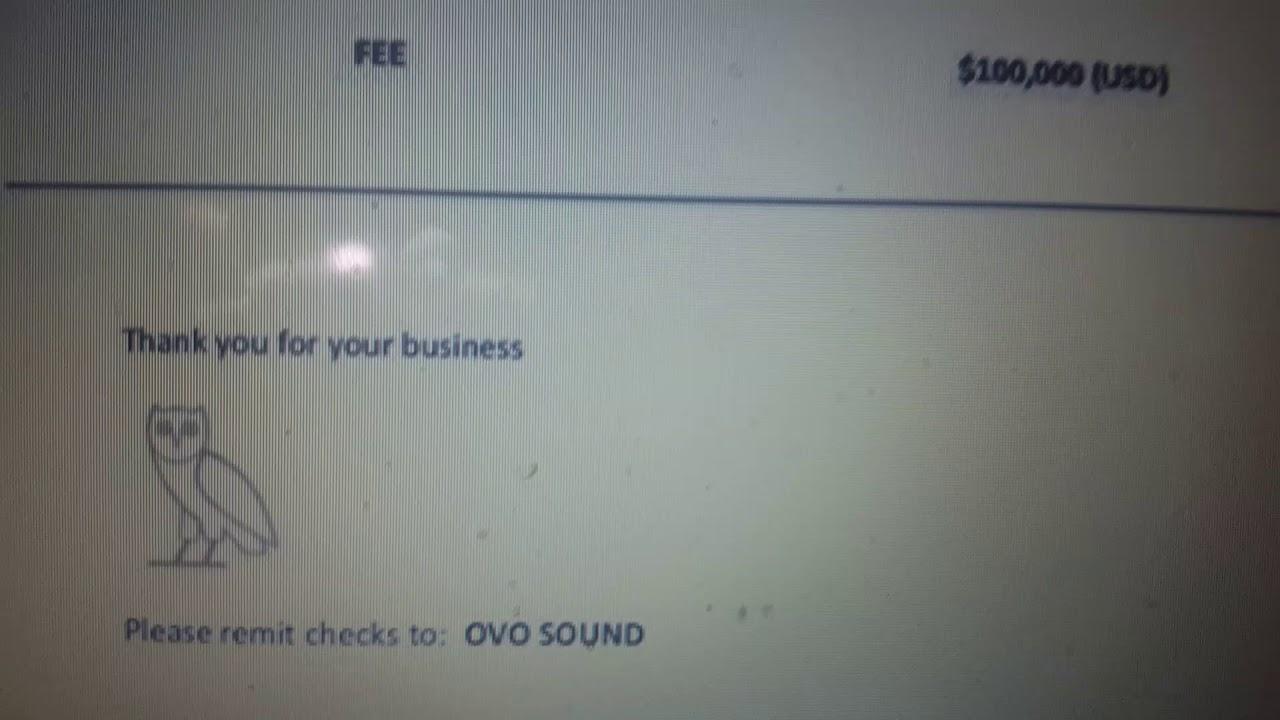 Drake Sends Invoice To Pusha T And Kanye West YouTube - Drake invoice