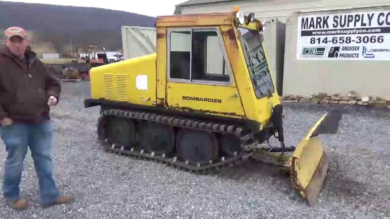 Bombardier Sw48 Snow Plow Rubber Track Truck Cab Heat For Sale Youtube
