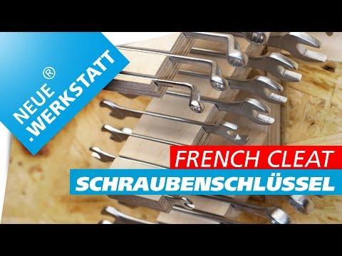 ◆ Maulschlüssel + Ringschlüssel und Gabelschlüssel Halter /// French Cleat System // selber machen
