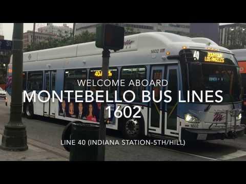 Montebello Bus Lines 2016 New Flyer XN40 #1602 | Coin Lloyd's Transit Hub