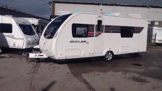 Sterling Eccles SE Solitaire 2013 fixed rear twin single bed touring caravan for sale.