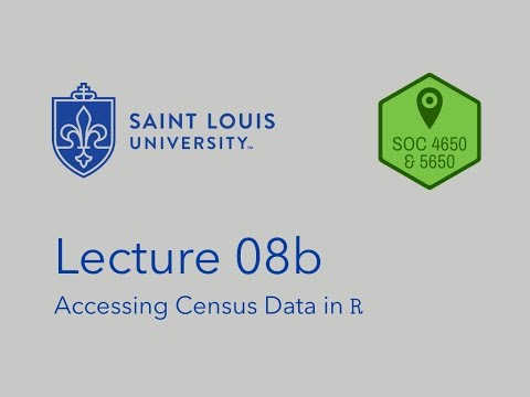SOC 4650/5650 - Lecture 08b - Accessing Census Data In R