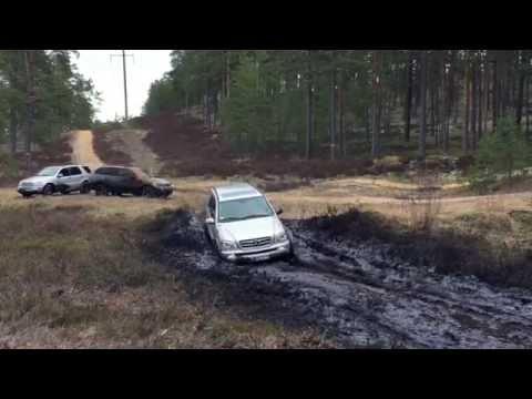 Mercedes ML, BMW X6, X5 off-road