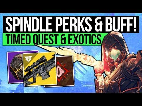 Destiny 2 News | BLACK SPINDLE PERKS! New Exotics, Quest Mission, Secret Chest & Strike Exotic!