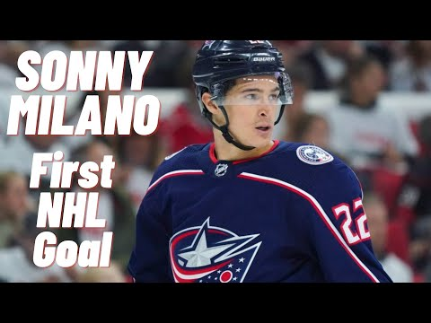 Sonny Milano #22 (Columbus Blue Jackets) first NHL goal 6.10.2017