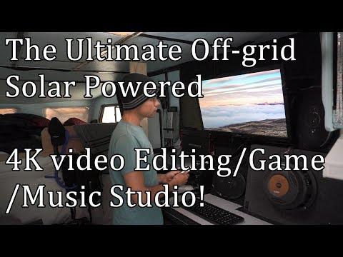 The Ultimate Off-grid Solar 4K Video Editing/Game/Music Studio! Lenovo Yoga i7 4K Review