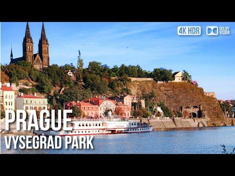 Vysehrad Fort Park, Prague - 🇨🇿 Czech Republic - 4K Virtual Tour