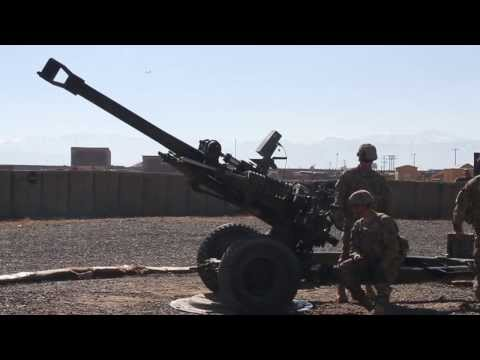 Army Artillery Soldiers Fire M119 Howitzer to Discourage Enemy Activity in Logar Province