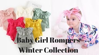 Winter Baby Girl Rompers !! Newborn Baby Clothes for Winter