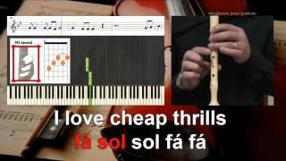 Cheap Thrills SIA Sean Paul Educacao Musical Notas para Flauta Cifra Guitarra e Piano Jose Galvao