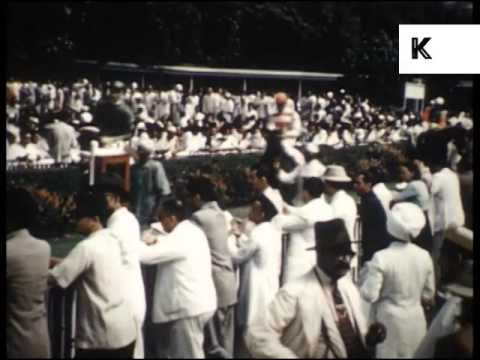 1950s Mumbai, Bombay India, Cricket Match, Country Club, Races, Archive footage