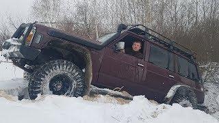 ОПАСНЫЙ зимний OFF ROAD, реальный боевой тест Moza Mini Mi(палка), 14 лет УАЗ-КЛУБу
