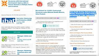 UP NRHM Various Posts ( 1172 Post) Recruitment 2019 online form stepby step