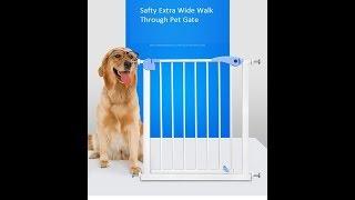 Safty Extra Wide Walk Through Pet Gate
