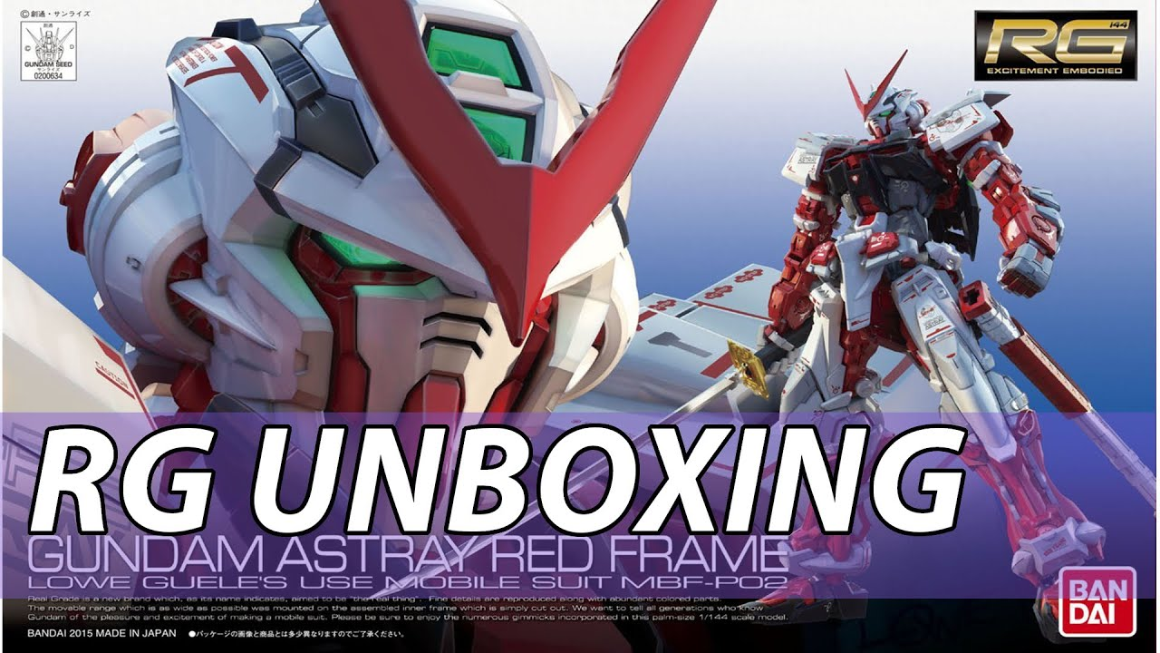 Rg Gundam Astray Red Frame Unboxing And Review 1 144 Youtube Bandai
