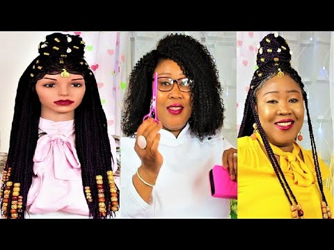 How to Make Your Very Own Fulani Inspired Braid Wig using a Three Quarter Closure