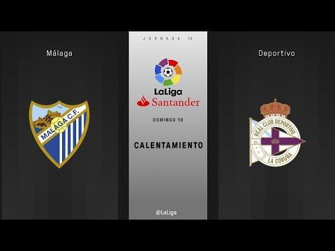 Calentamiento Málaga vs Deportivo