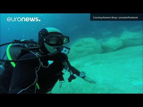Watch: Malta's  Azure Window underwater