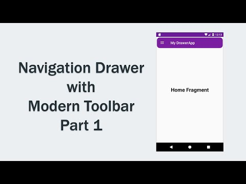 Navigation Drawer with Modern toolbar - Part1