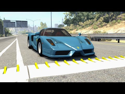 Spike Strip High Speed Crashes #33 – BeamNG Drive