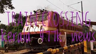 vuclip Train crossing level cross kerala..... India