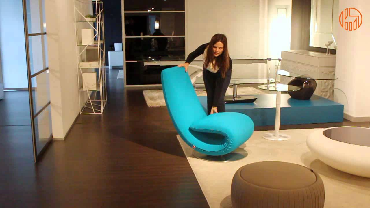 Ricciolo - Poltrona chaise longue di design di Tonin Casa - YouTube