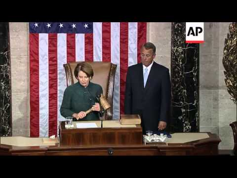 With 216 votes in his favor, the U.S. House of Representatives re-elected John Boehner to be speaker