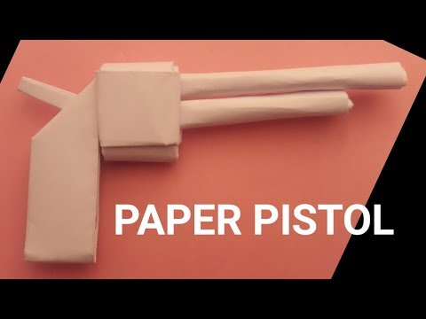 how to Make paper pistol - paper gun - origami revolver - easy origami