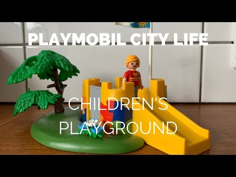 Opening the Playmobil City Life Children's Playground toy
