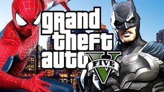 SPIDERMAN VS BATMAN in GTA 5 - MOD SHOWCASE !
