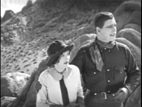 """""""The White Outlaw"""" (1925) starring Jack Hoxie and Marceline Day"""